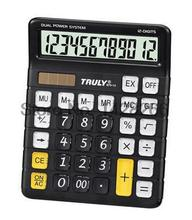 Truly 873-12 office computer transparent crystal buttons calculator