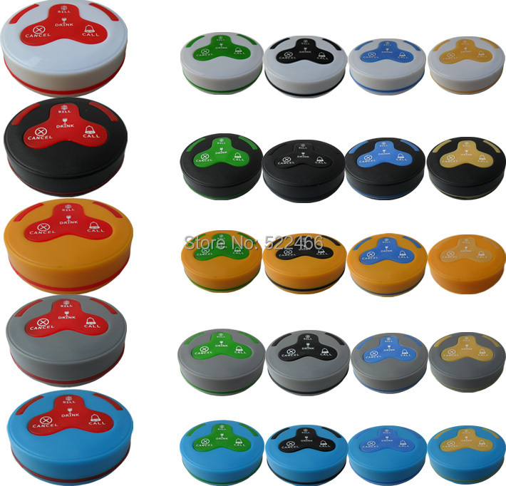 H4 K-H4 4 buttons table bell call bill drink cancel 100% Waterproof .jpg