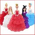 Принцесса Куклы Платье Мода Свадебное Платье Одежда Вечернее Платье Одежда Для Кукол Игрушки Для Девочек