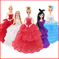 Princesa Roupas Vestido de Roupas de Moda Vestido de Noiva Vestido de Noite Roupas de Boneca Acessórios Da Boneca Brinquedos Para Meninas