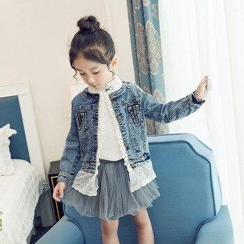 8c482e4be76 Модная детская джинсовая одежда для девочек