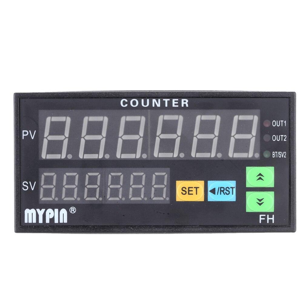 цена на Digital Counter Length Batch Meter 1 Preset Relay Output 90-260V AC/DC 6 digits LED Display