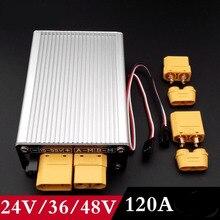 1 pc 24v36v48v escova bilateral de alta pressão esc 120a 4 s-13 s controlador de velocidade elétrica com freio para rc modelo carro