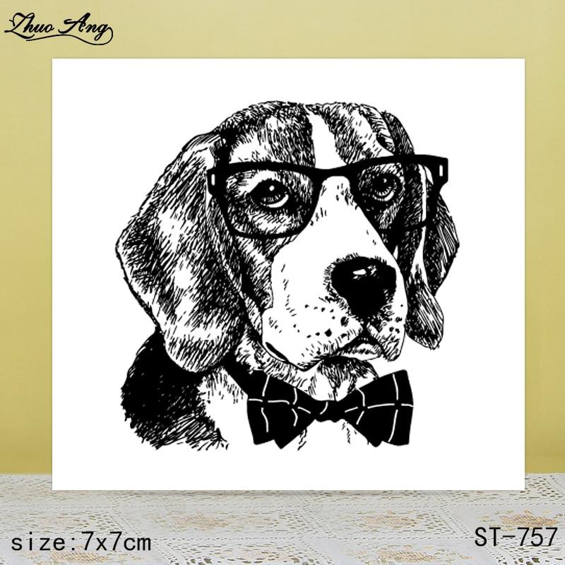 ZhuoAng Mature puppy transparent silicone stamp / sticker DIY scrapbook photo album decorative seal