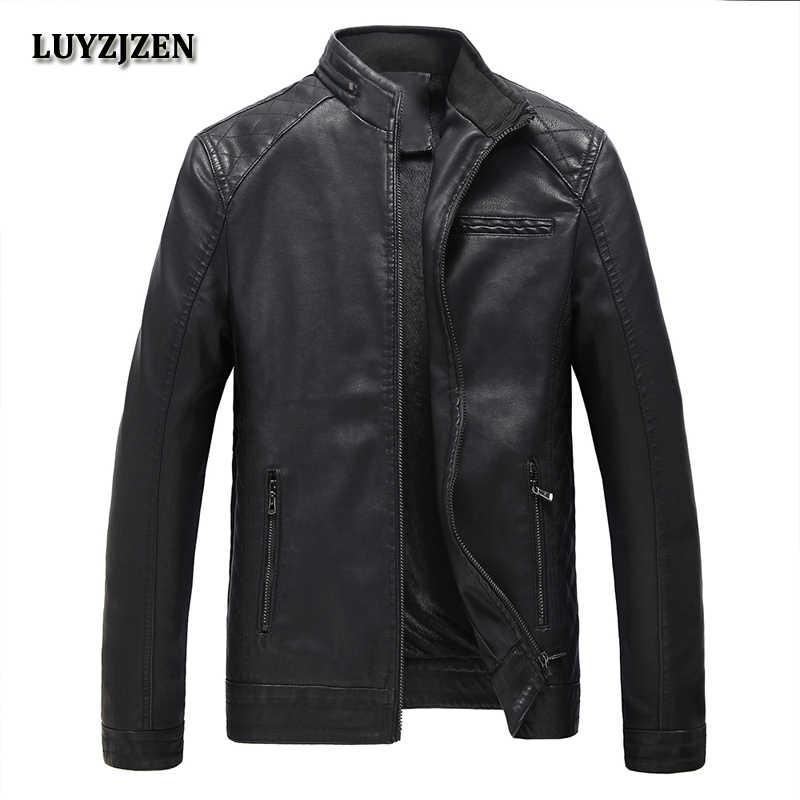 秋冬オートバイ pu レザージャケットフェイクレザージャケットメンズ黒服のファッション弾性オートバイの上着 304