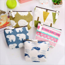 Small Mini Trees Forest Fish Kawaii Cute Pencil Case Carrying Coin Bags Canvas Pouch Wallet Stationery(China)