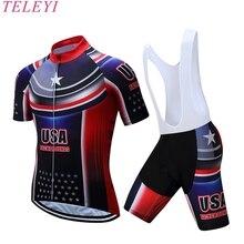 2017 EE.UU. Ciclismo jersey de poliéster de secado rápido pro bike jersey Ropa Ciclismo equipo sky Bicicleta MTB maillot camisetas