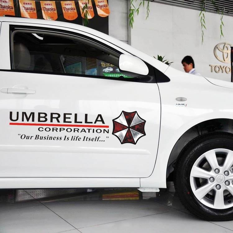style de voiture parapluie protecteur rsident autocollant personnalit mal zombie rflchissante autocollant de voiture pour le