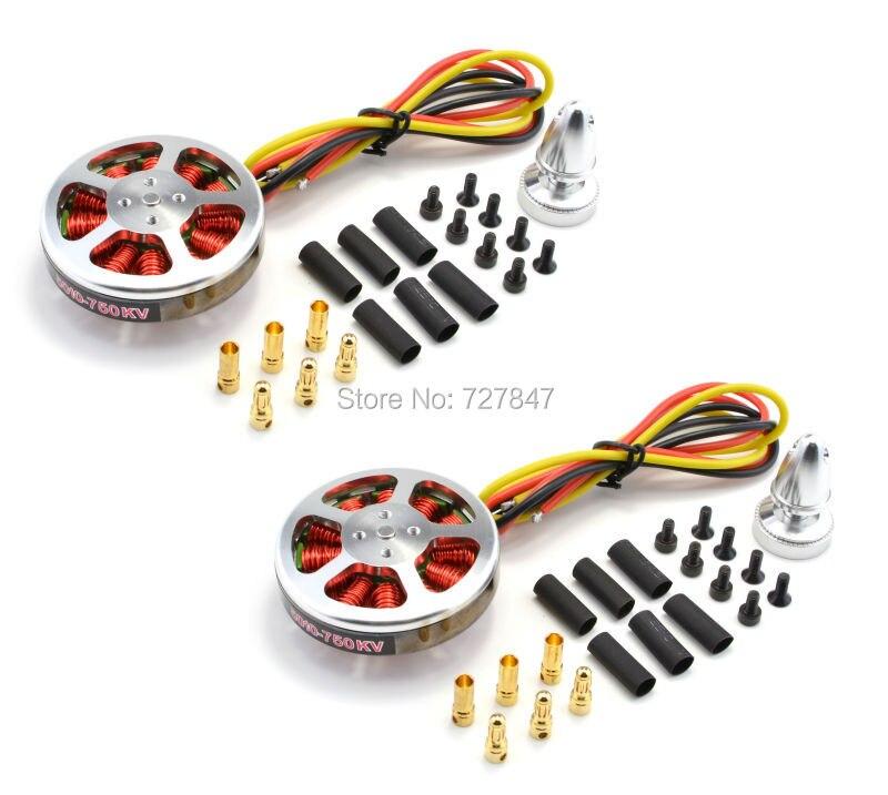 2pcs 5010 750KV High Torque Brushless Motors For MultiCopter / QuadCopter 2pcs kv b16ra