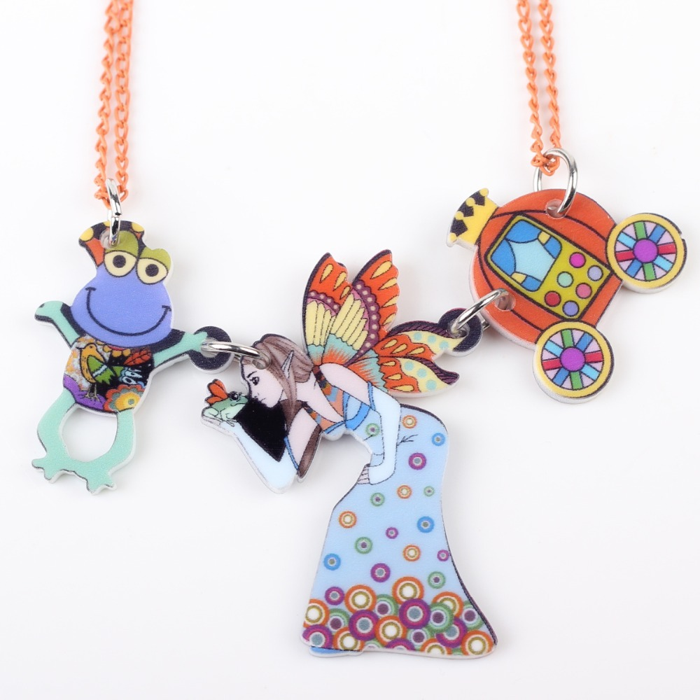 Newei fairy necklace pendant acrylic pattern 2017 news accessories ...