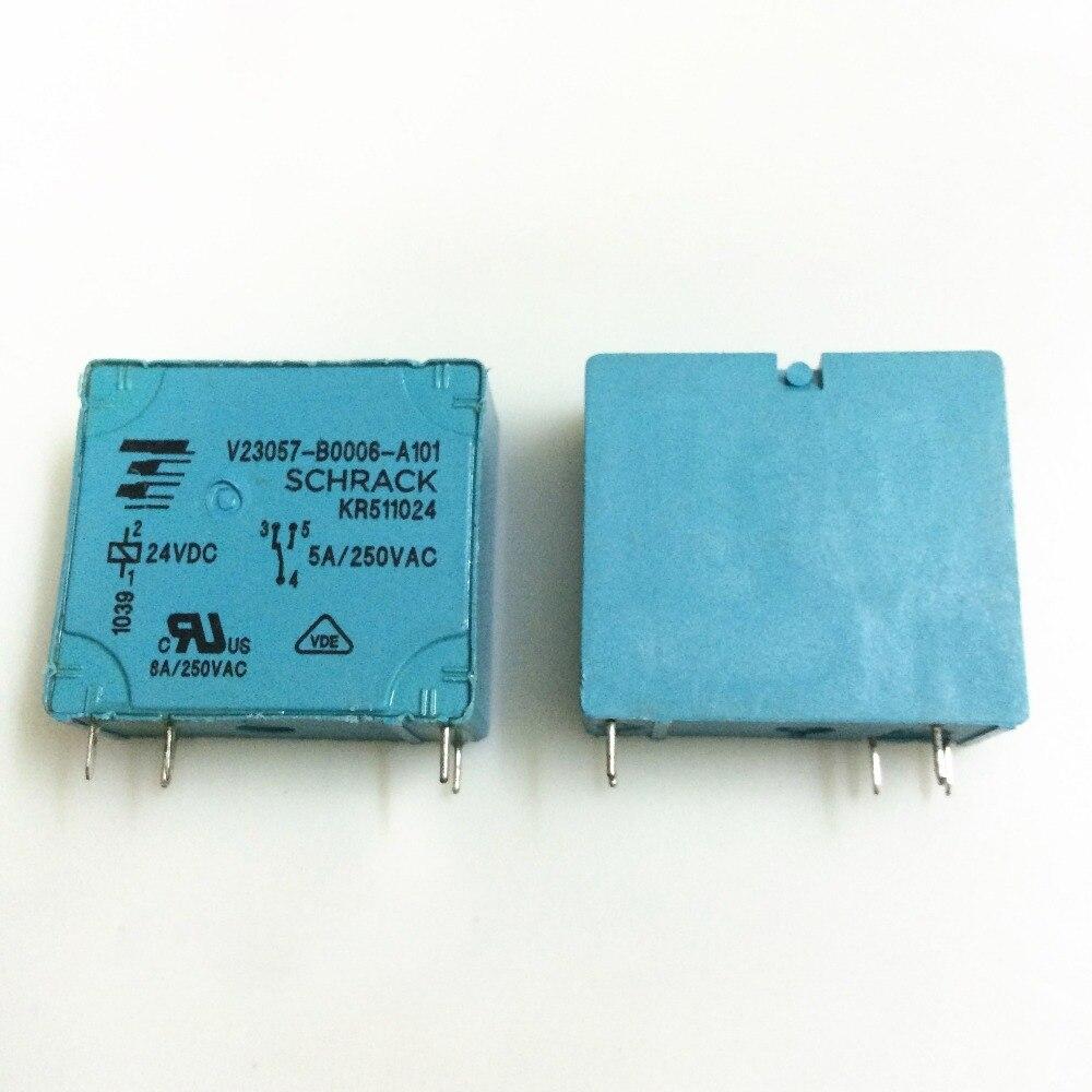 NEW 24V relay V23057-B0006-A101 24VDC V23057-B0006-A101-24VDC V23057B0006A101 24VDC DC24V 24V 5A 250VAC 5PIN g5nb 1a e 24vdc g5nb 1a 24vdc