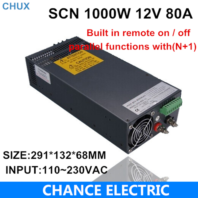 12v 80a switching power supply SCN 1000W 110-220VAC SCN single output input for cnc cctv led light(SCN-1000W-12v)