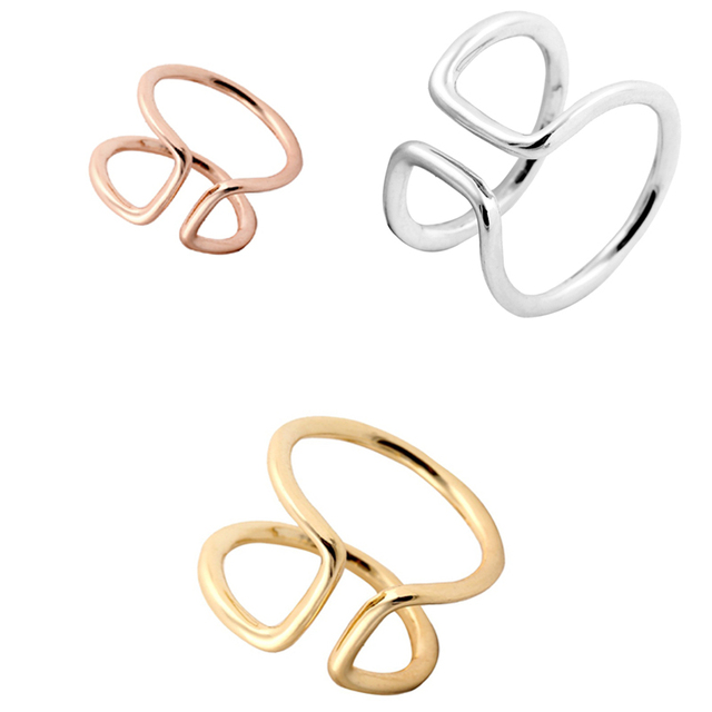 yiustar New Fashion Finger Rings Simple Open Wire Band Wedding Rings ...