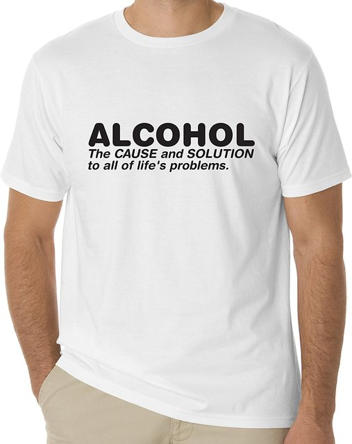 0e005b16 Personalized T Shirt Custom T Shirt Broadcloth Sayings Alcohol Fun O-Neck  Short Sleeve Mens T Shirt