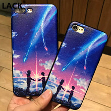 LACK Japanese Cartoon YOUR NAME Series Sweet Lovers Forever Together Phone Cases For Apple iPhone 6 6S/ 6Plus 6S Plus/ 7/ 7Plus