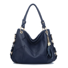 2016 Fashion Women Bag Korean Handbags Fringed Shoulder Diagonal Portable Leather Stitching Shoulder Large Bags Handbags Women