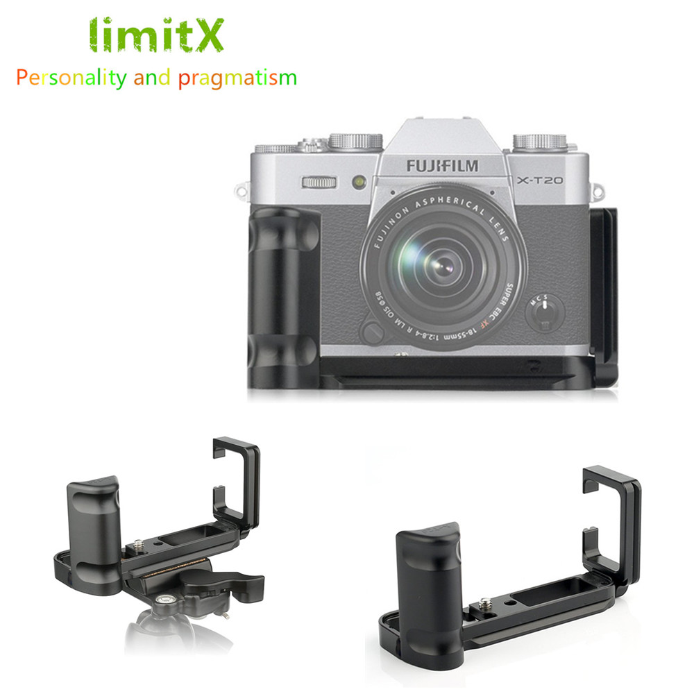 L Plate Holder Grip Tripod Bracket /& Concave Shutter Release Button for Fujifilm