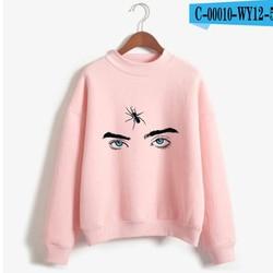 New Fashion Billie Eilish Pink Hoodie Women Long Sleeve Turtleneck Sweatshirt K-POP Hip Hop Pullover Jumper Harajuku Tracksuit 6