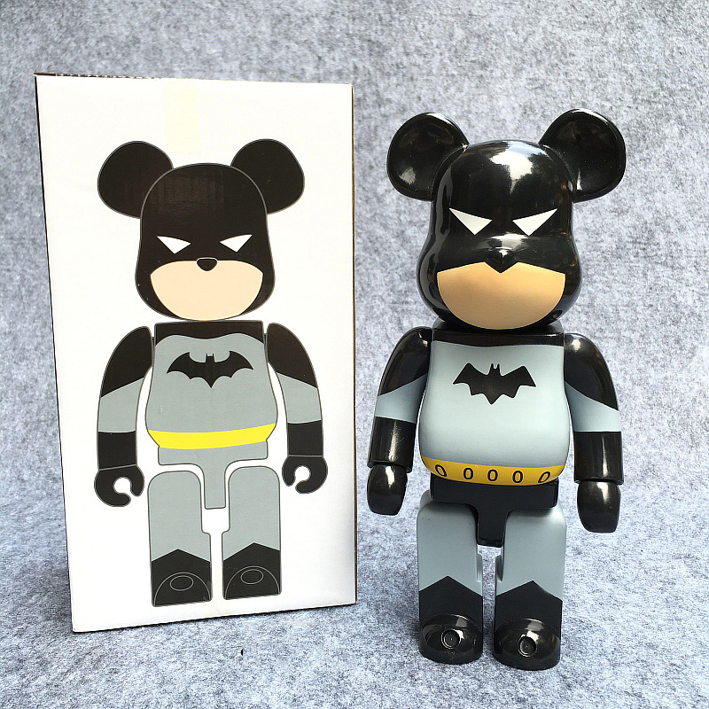 New Arrival 400% Bearbrick Cosplay Batman PVC Action Figure Fashion Toys In Retail Box new arrival be rbrick bear bearbrick pvc action figure toy 52cm vinyl art figure as a gift for boyfriends