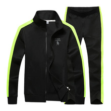 AmberHeard Men Tracksuit Set Fashion Spring Autumn Sporting Suit Jacket+Pants Sweat suit 2 Piece Sportswear For Clothes