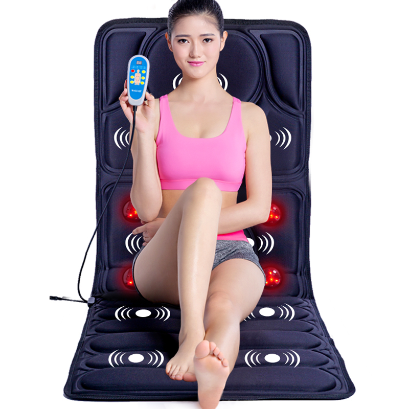 Multifunctional Foldable Body Neck Waist Shoulder Back Massage Pad Remote Control Home Massage Bed Chair Cushion
