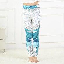 купить new girls leggings trousers pants digital printing high waist stretch sports pants trousers leggins autumn winter kids pants онлайн