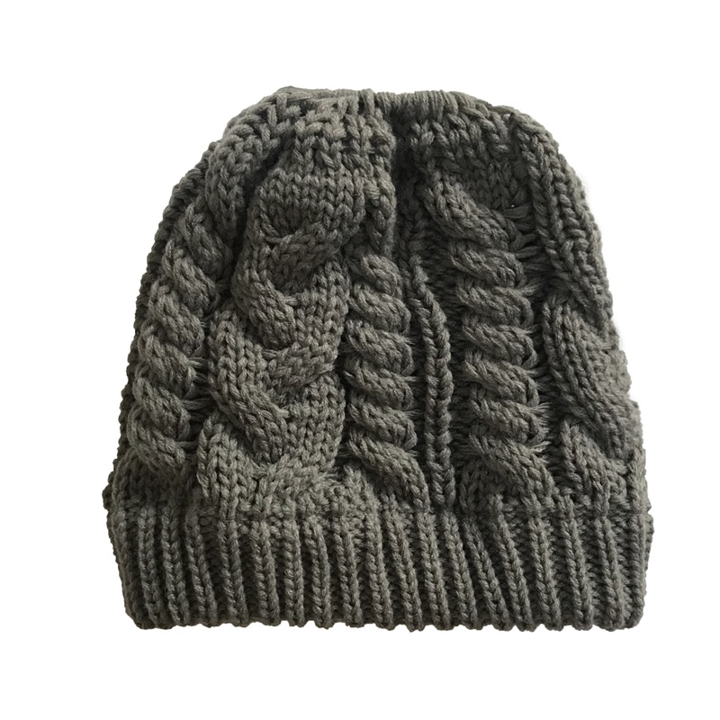 Ponytail Beanie Winter Hats For Women Crochet Knit Cap Skullies Beanies  Warm Caps Female Knitted Stylish Hat Ladies Fashion 2018-in Skullies    Beanies from ... 0d3be9aefa91