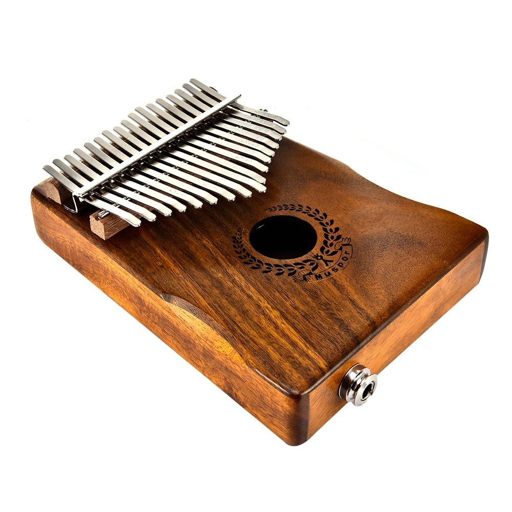 New Kalimba 17 Keys Thumb Piano builts in EVA high performance protective box, tuning hammer and study instruction