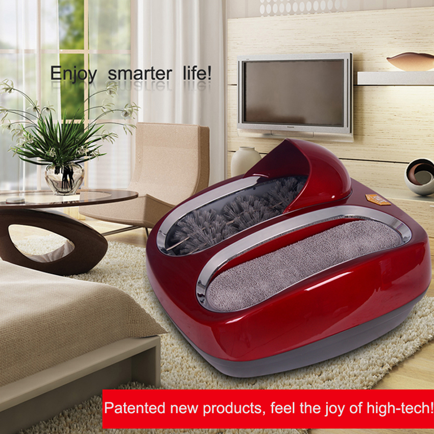 1PC Intelligent Automatic sole cleaning machine shoe polishing equipment Instead of Shoe covers machine with 4 colors