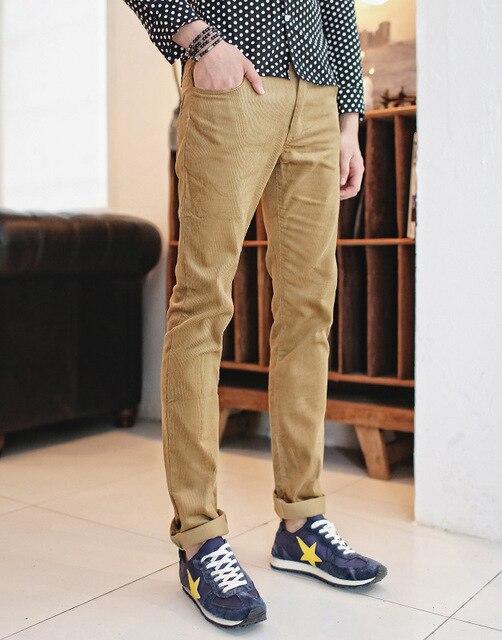 Personalidad de la moda salvaje pantalones de pana de Los Hombres pantalones ocasionales de los hombres pantalones vaqueros rectos de los pantalones de pana Envío Libre