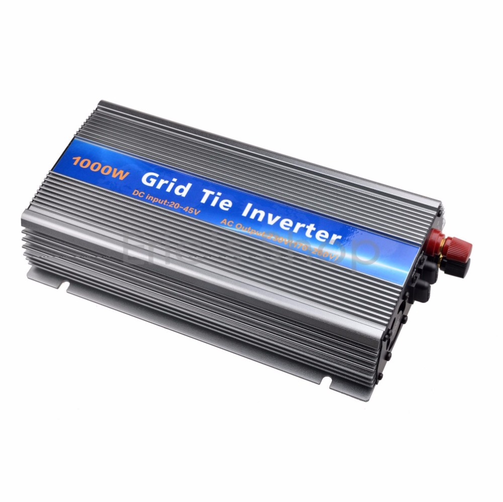 Grid Tie Inverter 1000W DC20V-45V to AC220V Pure Sine Wave Power Inverter Fit for 24V/36V 60cells/72cells Send from USA/UK 1500w grid tie power inverter 110v pure sine wave dc to ac solar power inverter mppt function 45v to 90v input high quality