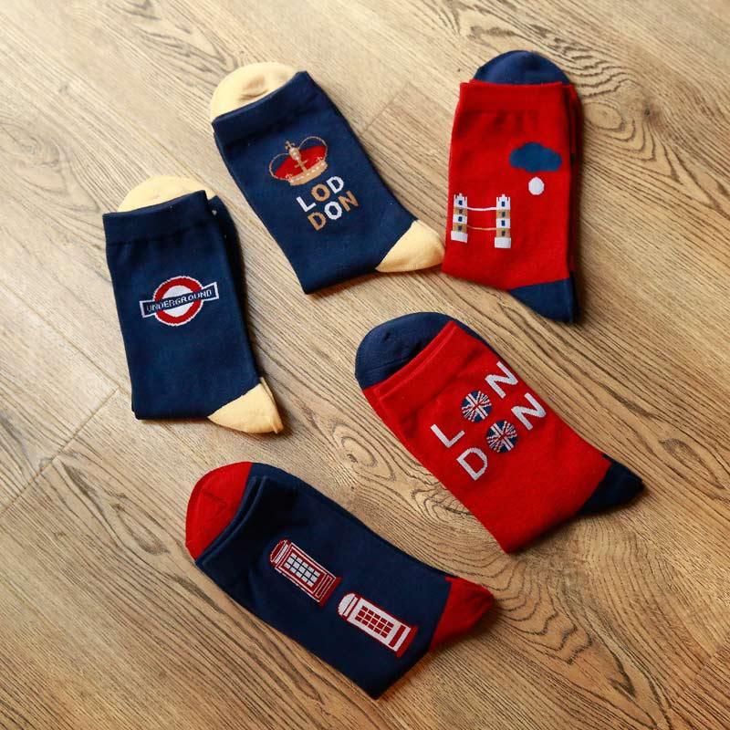 New Arrival High Quality Fashion Funny Socks hip hop Cotton Socks Autumn Winter sokken Warm Long Socks For Men Meias