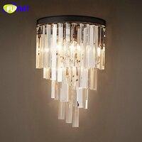 Фумат Американский LED Кристалл Настенные светильники Европейский Стиль Гостиная прикроватной тумбочке настенный светильник бра современн