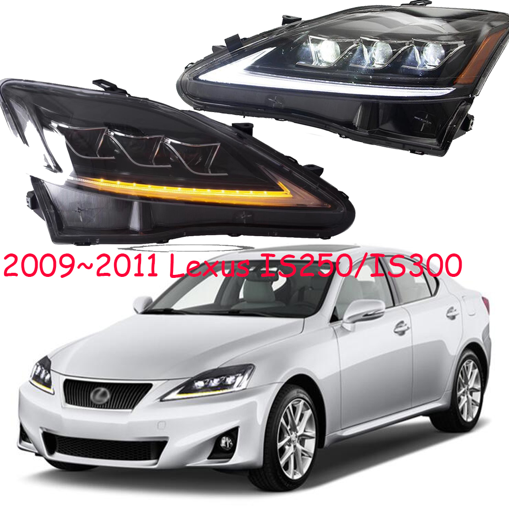 Video,LED Headlight For Lexuz IS300 IS250 Headlight 2006~2012y,is250 Bumper Light Daytime Lamp DRL Car Accessories IS300 IS250