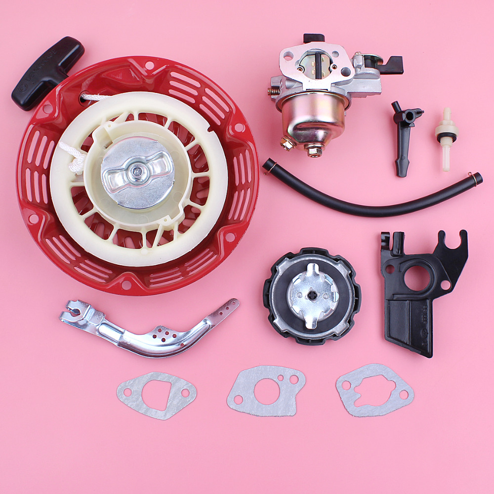Recoil Rewind Starter Carburetor Carb For Honda GX160 GX200 5.5HP 6.5HP GX 160 200 Lawn Mower Governor Arm Lever Choke Rod recoil starter curved steel rod rachnet for honda gx160 gx200 4 cycle 163cc 196c water pump scarifier pull start assembly