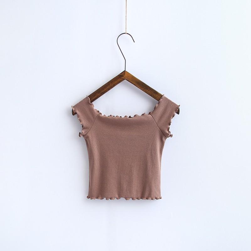 HTB1TGd4OVXXXXaDaFXXq6xXFXXXf - Striped Knitted Off Shoulder Slash Neck Short Sleeve T Shirt PTC 27