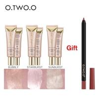 O TWO O Buy 3 Get 1 Gift Face Highlighter Primer Base Primer Contouring Concealer Shimmer