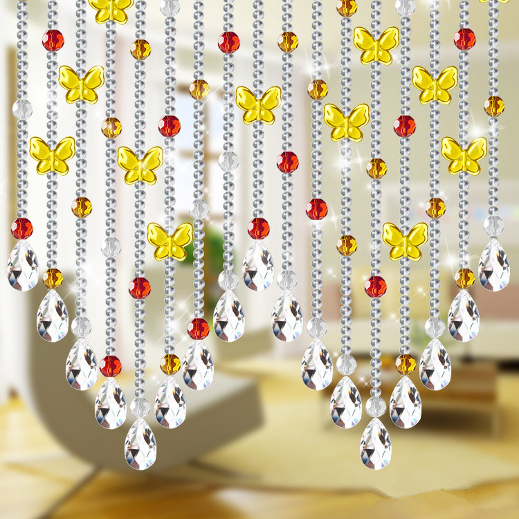 Customize Professionally Crystal Bead Curtain Amber Lucky Butterfly Doorway  Room Divider In Curtain Decorative Accessories From Home U0026 Garden On ...