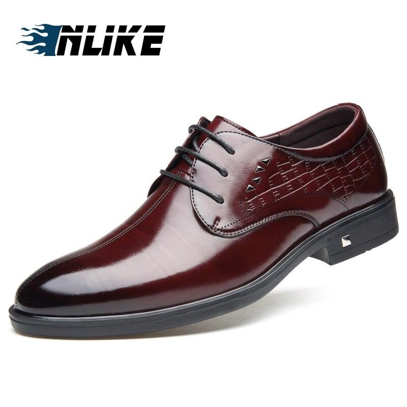 INLIKE nouveauté hommes italiens chaussures en cuir hommes robe formelle Oxfords hommes britanniques chaussures en cuir