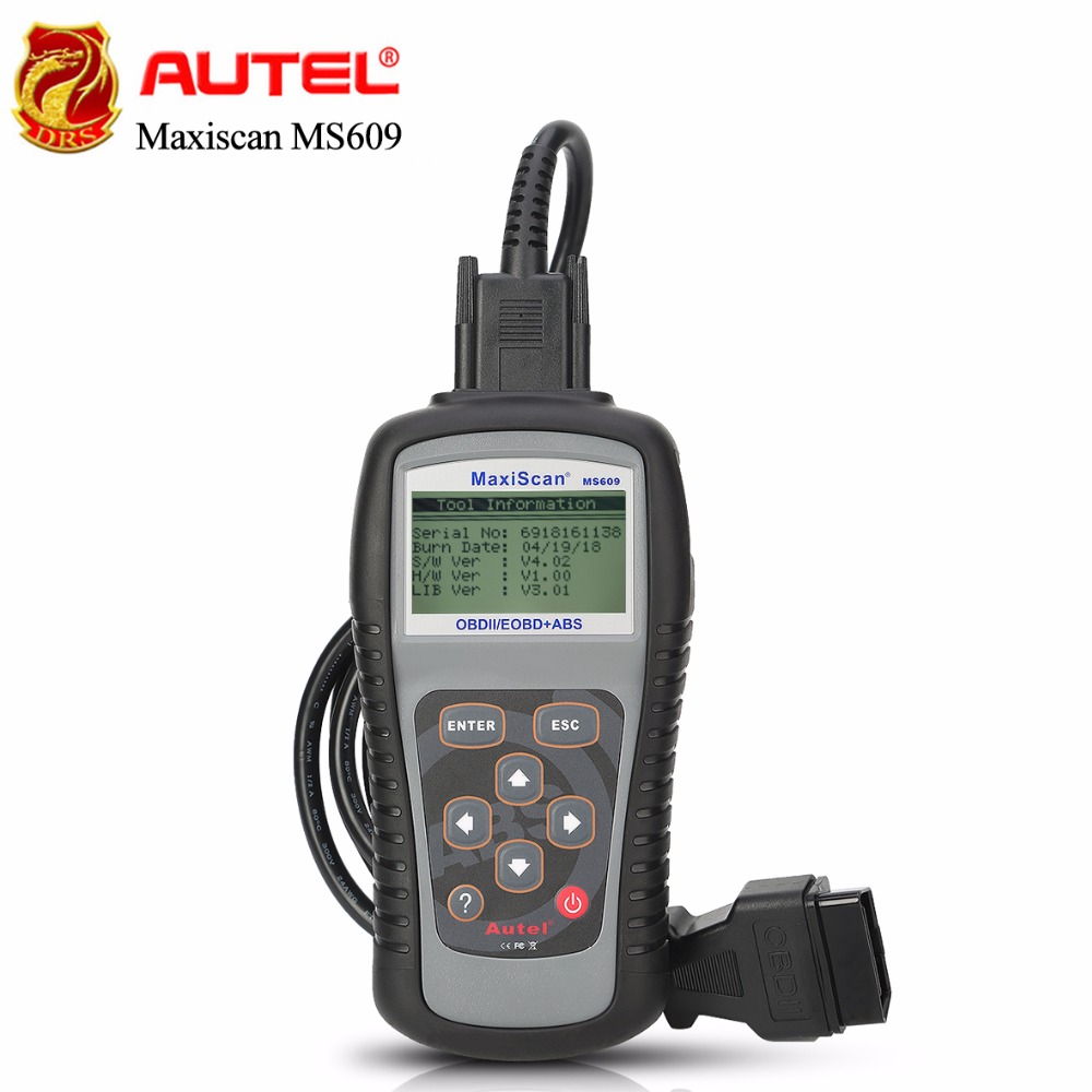 Autel Maxiscan MS609 OBD2 Scanner Code Reader Full OBDII Functions ABS Automobiles Diagnostics Tool Advanced Version of AL519
