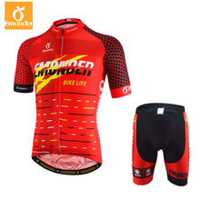EMONDER Custom Cycling Set Men Red Short Sleeve Pro Racing Bike Bib Shorts 4D Padded Breathable MTB Road Bicycle Clothing