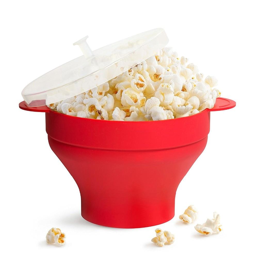 DlY Plegable Silicona Microondas Aire Caliente Popcorn Popper Bowl - Cocina, comedor y bar