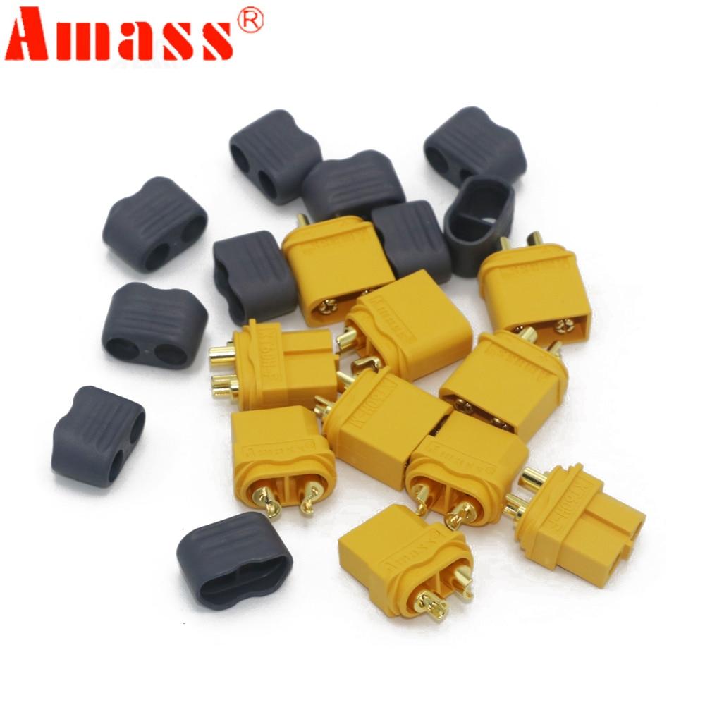 10 x Amass XT60+ разъем с оболочкой корпус 5 Мужской 5 женский(5 пар