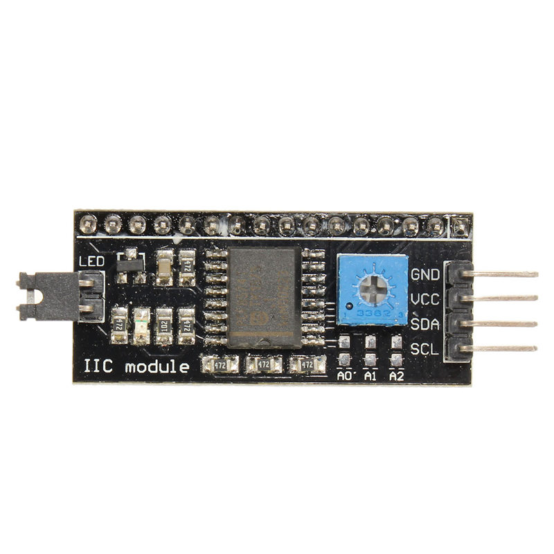 New Arrival I2C/IIC/TWI Serial Interface Board Module for Arduino R3 LCD 1602 Display 54x19 mm 5V Hot Sale Module Modules Board