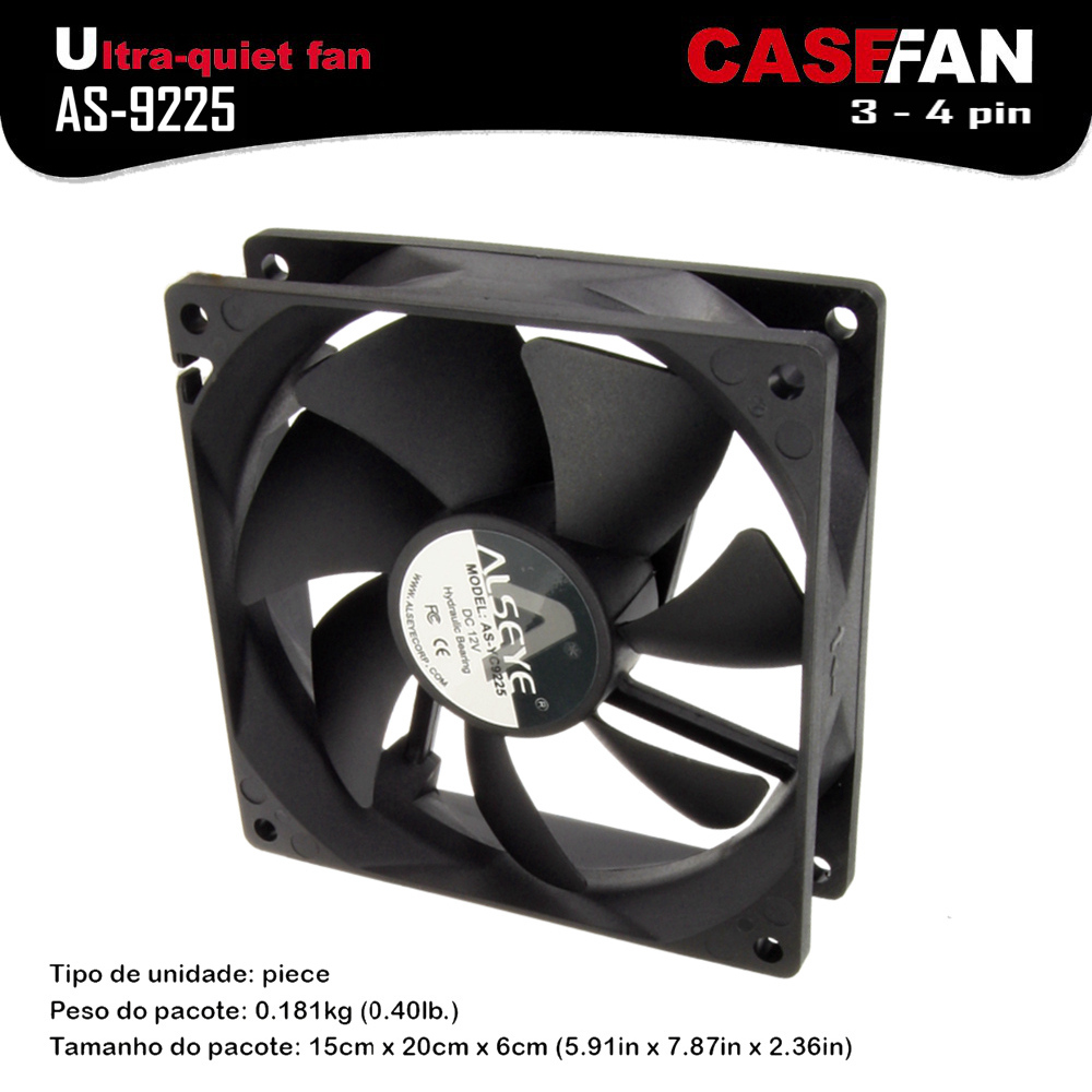 ALSEYE Cooling fan 90mm Fan for Computer Case / CPU Cooler D4-3pin DC 12V 1800RPM Hydraulic Bearing Ultra-quiet 9225 Fans alseye led fan for cpu cooler pc case 120mm computer fan dc 12v 1300rpm cooling fans 4 color available