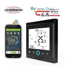 цены TUYA 95-240VAC 24v heat cool temp thermostat WIFI 2P/4P Works with Alexa Google home