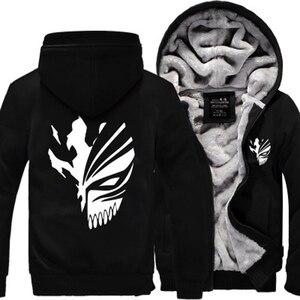 Image 4 - Sweatshirt Anime Bleach Kurosaki Ichigo hoodies 2019 frühling winter verdicken fleece männer der jacke sportswear Casual Zip Up hoody
