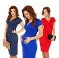 Maternity clothes12 colors dress for pregnant V-neck short-sleeve cotton pregnancy dress summer elastic waist maternity dress