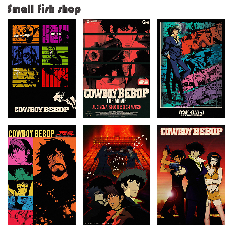 Cowboy bebop Home Furnishing decoration Kraft Movie Poster Drawing core Wall stickers image