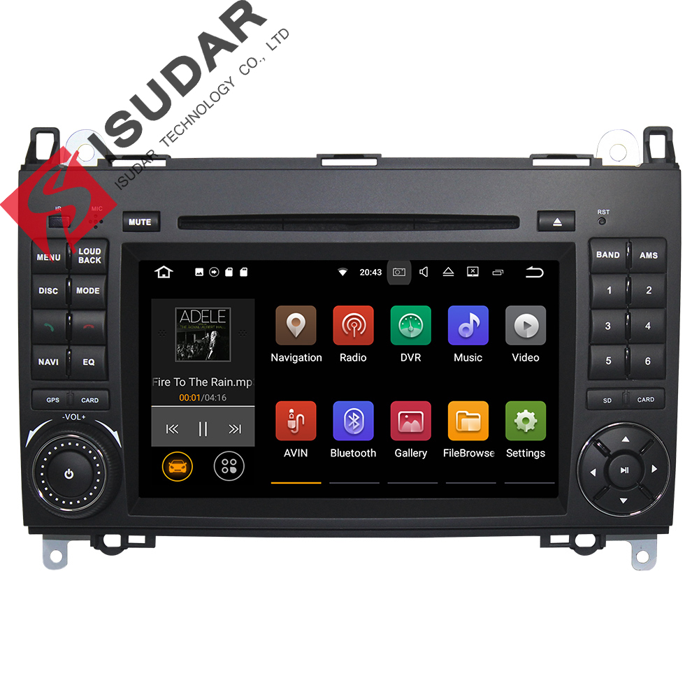 Wholesales! Android 7.1.1! 7 Inch Car DVD Player For Mercedes/Benz/Sprinter/B200/B-class/W245/B170/W209/W169 Wifi GPS Radio auto fuel filter 163 477 0201 163 477 0701 for mercedes benz